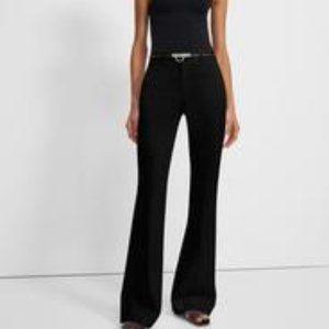 Theory Fortune black velvet pants